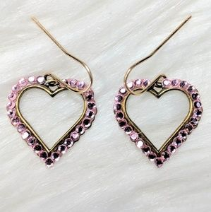 Jewelry - Tiny Crystal Heart Earrings